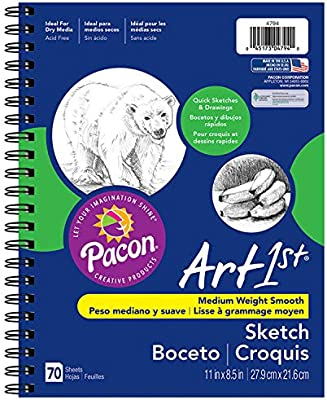 70 Sheets 8.5 x 11 2 Pack Pacon 4794 UCreate Sketch Diary