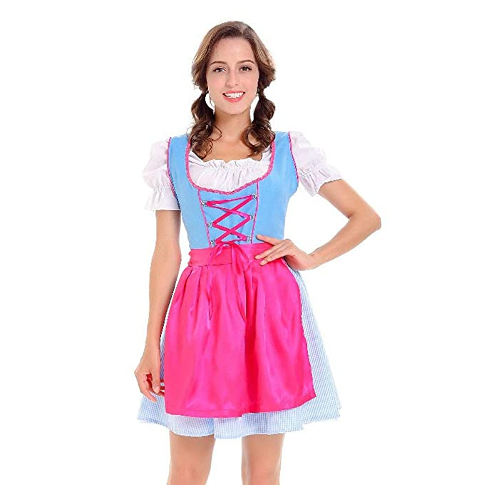 ec40953fecd Amazon.com  Women s German Dirndl Dress 3 Pieces Traditional ...
