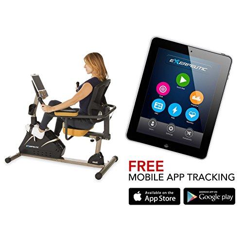 Exerpeutic 4000 Magnetic Recumbent Bike with MyCloudFitness App