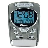 Timex 3400T Indiglo Portable LCD Intrusion Alarm Clock