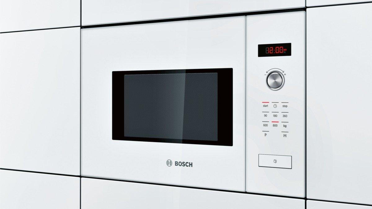Bosch HMT75M624 - Microondas, 1270 W, 220-230 V, reloj electrónico programable, color blanco