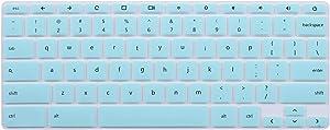 "ikammo Keyboard Cover Skins Compatible with HP Chromebook 14"" 14-ca 14-ak 14-X G5 G3 G4 G2 14-X Series,11.6 inch HP Chromebook 11 G2 G3 G4 G5, G6 EE (Mint Green)"