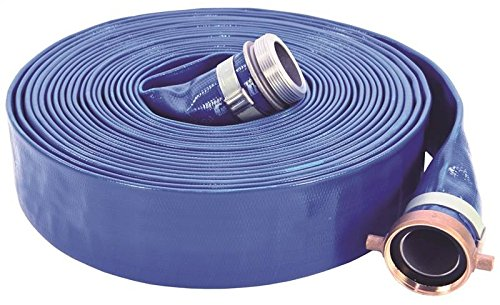 Abbott Rubber PVC Discharge Hose Assembly, Blue, 2 in. Male X Female Cam and Groove, 65 psi Max Pressure, 50 ft. Length, 2 in. ID by Abbott Rubber
