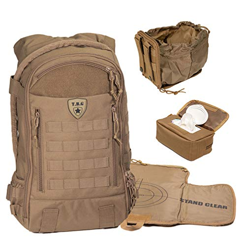 Tactical Baby Gear Daypack 3.0 Tactical Diaper Bag Backpack Combo Set (Coyote Brown) from Tactical Baby Gear