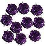 Fityle-10-Pieces-Silk-Artificial-Rose-Heads-Flowers-Head-For-Wedding-Decoration-DIY-Wreath-Gift-Box-Scrapbooking-Craft-Fake-Flowers-dark-purple