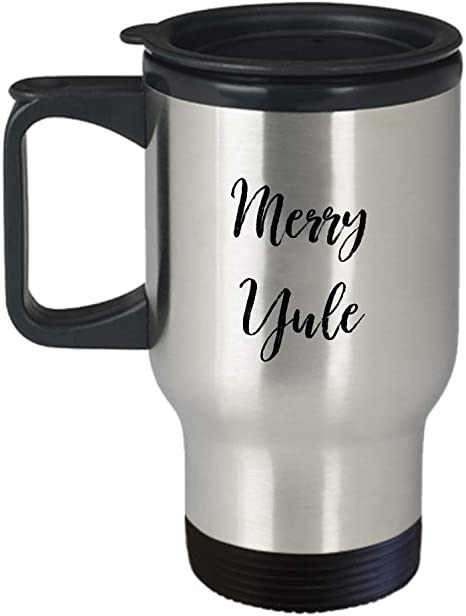 Merry Jule Fot This Christmas Silver Stainless Steel Travel Mug Amazon Ca Home Kitchen
