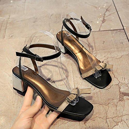 Schuhe spitze Sandalen Offene Gladiator Ferse IGEMY Frauen Schuhe Hochzeit Starke Schuhe Grau Sommer wzBxqt