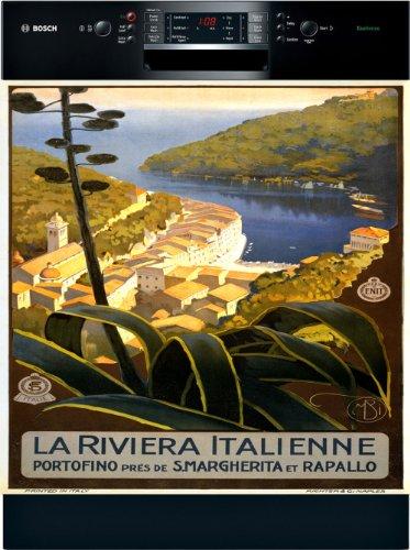 Portofino Vintage Travel Poster Appliance Art Decorative Mag