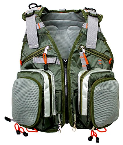 Cheap Sleeping Giant Fly Fishing Vest Backpack Sling for Tackle, Gear, Trout Flies, Outdoor Equipment, Rod and Reel