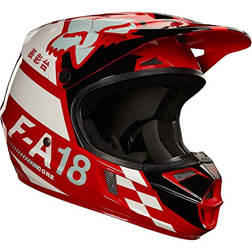 2018 Fox Racing Youth V1 Sayak Helmet-Red-YS