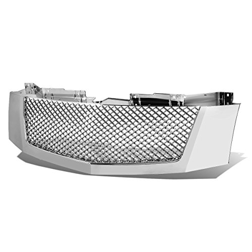 Cadillac Escalade Chrome Grille - For Cadillac Escalade GMT900 ABS Plastic Diamond Mesh Style Front Grille (Chrome)
