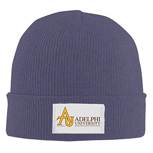 Adult Fashion Adelphi University Cotton Kitted Cap Wool Cap Winter Hat