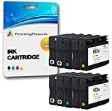 Printing Pleasure 10 (2 SETS + 2 BLACK) Compatible Printer Ink Cartridges for HP Officejet 6100, 6600, 6700, 7110, 7600, 7610, 7612 | Replacement for HP 932XL 933XL (CN053AE CN054AE CN055AE CN056AE)