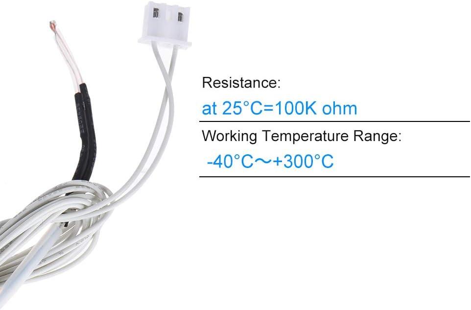 Aibecy NTC 3950 Sensor termistor ohmios 100K con 1,1 m de cable ...