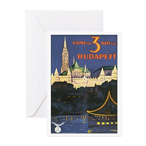 CafePress - Budapest Hungary - Greeting Card, Note Card, Birthday Card, Blank Inside (Hungary Note)