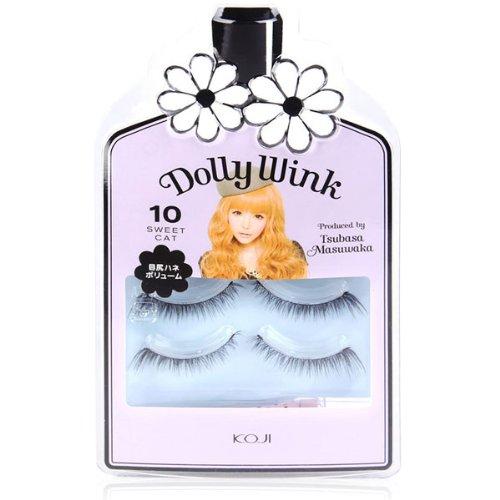 BestOfferBuy Koji Dolly Wink False Eyelashes Lashes Kit No. 10 Sweet Cat 2 Pairs Japan