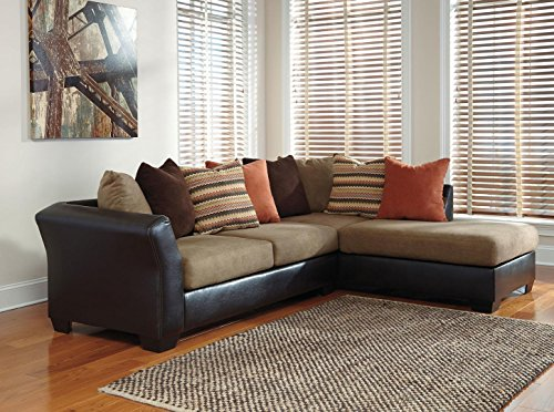 Ashley Armant 20202-17-66 Sectional Sofa with Right Arm Corner Chaise Left Arm Sofa and Eight Pillows Included in : ashley sectional couch - Sectionals, Sofas & Couches