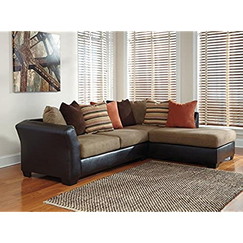 ashley furniture sectional couches. Ashley Armant 20202-17-66 Sectional Sofa With Right Arm Corner Chaise Left And Eight Pillows Included In Furniture Couches