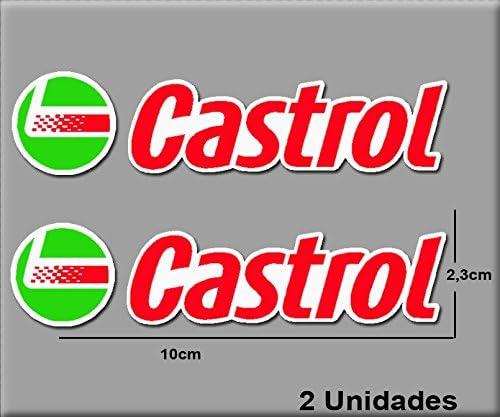 R183 Autocollants Adesivi Moto GP Decals Motorcycle Ecoshirt G9-B49F-E8HE Stickers Castrol Ref 10 x 2.3 cm