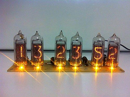 BIG Nixie Vacuum Tube Clock 6xIN-14 Vintage Steampunk Dieselpunk Soviet Made During the Cold War Era - Punk Era Steam