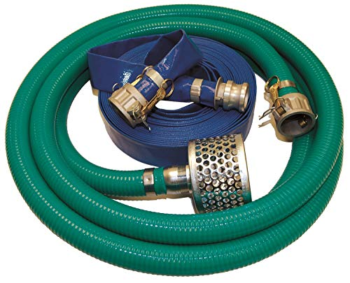 Top Brand 90 psi Dewatering Quick Coupling Pump Hose Kit for Engine Driven Pumps, Diaphragm Pumps, Centrifugal - 6YZE7