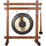 Woodstock Chimes WTG The Original Guaranteed Musically Tuned Chime Table Gong, Teak