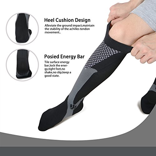 1a04a55312 Compression Socks for Men & Women(2 Pairs), BEST Medical Grade Graduated  Recovery