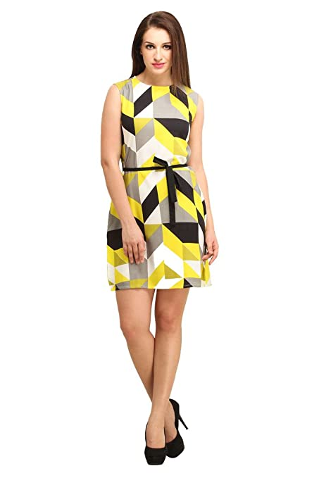 COLOR FUEL Women Geometrical Print Dress Dresses