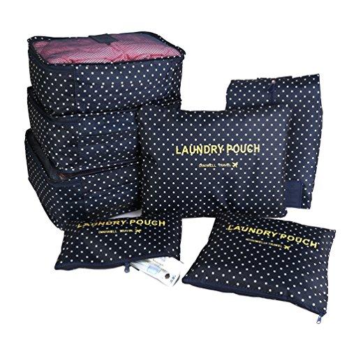 ColorMixs?Itraveller 7 set imballaggio cubi / 7 Travel Set Cube di sistema per l'uomo e Donna- 3 cubetti di imballaggio + 3 Imballaggio Borse + 1 Premium Shoes Bag