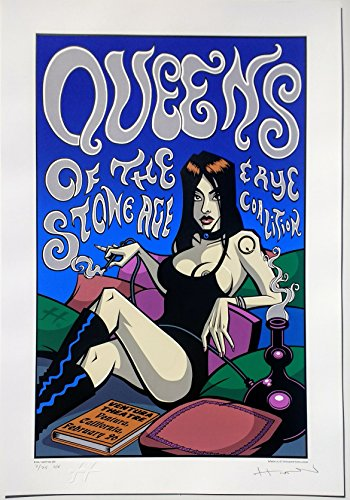 Queens of The Stone Age Concert Poster Justin Hampton S/N Special Edition Ventura 2003