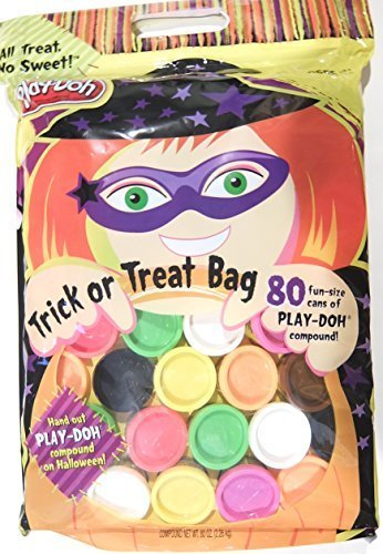 Play-Doh Halloween Trick or Treat Bag with 80 Fun Size Cans 0.80oz Each]()