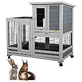 COZIWOW Indoor Outdoor Rabbit Hutch,Small Animal