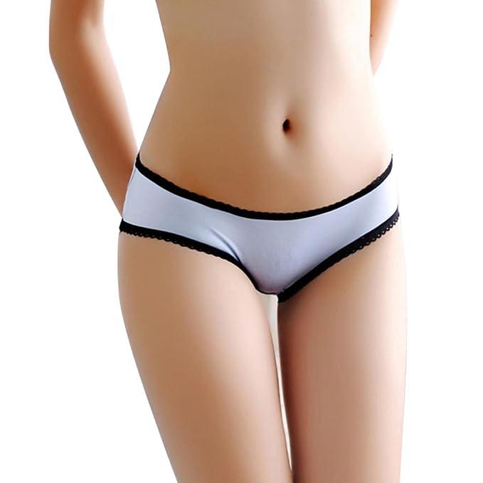 VJGOAL Mujeres Ropa Interior Tanga Pantalones Sexy Panties Damas Calzoncillos Abiertos Mariposa Encaje triángulo Hueco triángulo