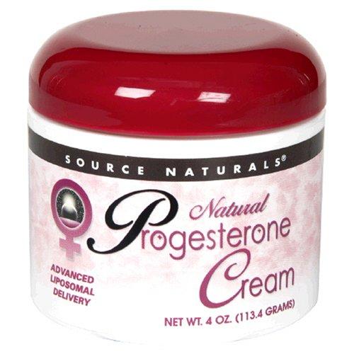 Source Naturals Crème de progestérone naturelle, 4 onces (113,4 g)