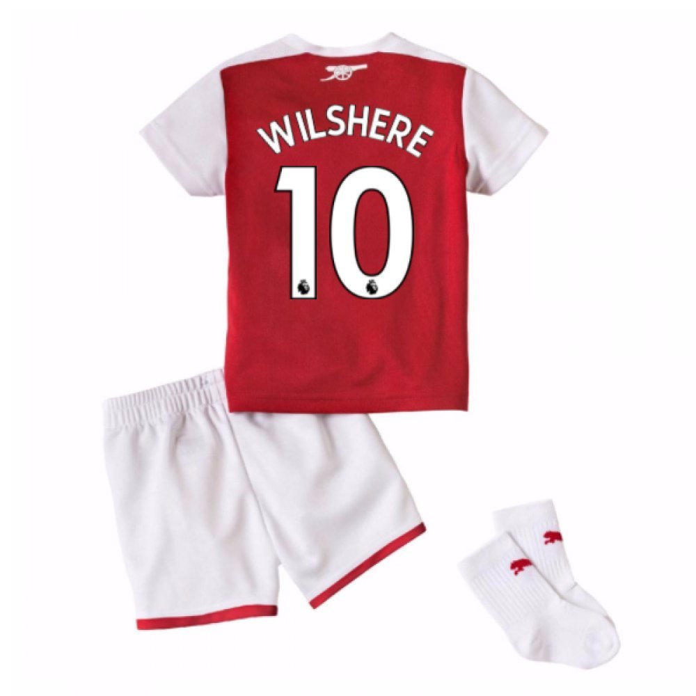 2017-18 Arsenal Home Baby Kit (Wilshere 10) B077PJYXD1Red 9-12 Months