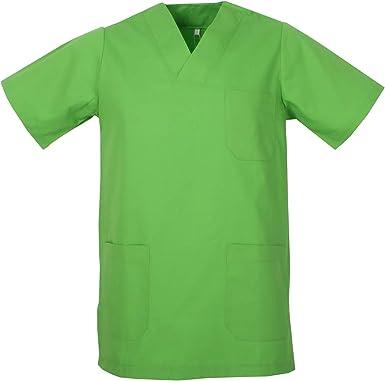 Ref.817 Misemiya V/ÊTEMENTS DE Travail Unisex COL PIC Manches Courtes Uniforme Clinique H/ÔPITAL Nettoyage V/ÉT/ÉRINAIRE SANT/É H/ÔTELLERIE
