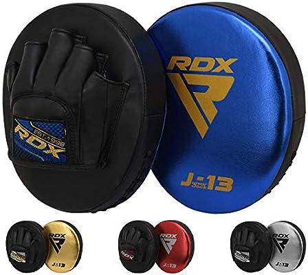 RDX MMA Manoplas Boxeo Paos Muay Thai Almohadilla Kick Boxing Artes Marciales Patada Gancho y Jab Pad Entrenamiento