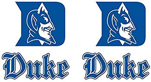 Duke Blue Devils Cornhole Decals Large Piece Set Indoor HDS3701