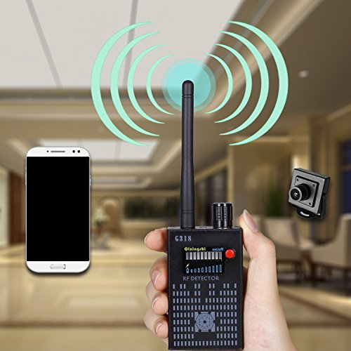 YOUYOUTE Anti-Spy Amplification signal detector RF Spy Bug camera wireless Detector Frequency Scanner Sweeper GSM CDMA GPS Tracker (Frequency Finder Bug)