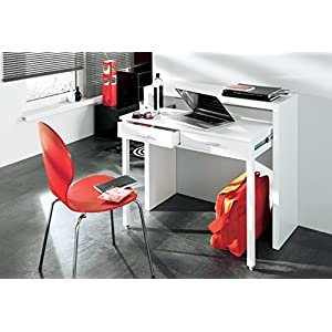 Comfort – Home Innovation – Expandable Desktop – Desk and Console – White Gloss Colour – Dimensions: 98.6 x 86.9 x 36…