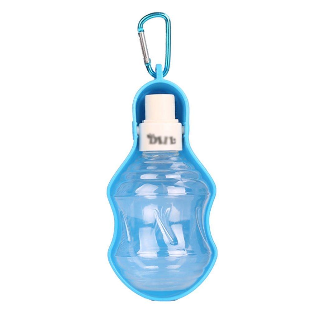 blueE 17cm blueE 17cm Pet Drinker Kettle Go Out Dog Water Dispenser Hanging Water Feeder Pet Portable Water Bottle Pet Supplies (color   bluee, Size   17cm)