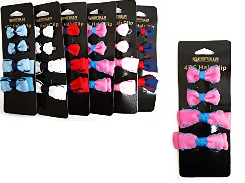 HAIR BAND W/BUTTERFLY BOW 6ASST, Case of 144