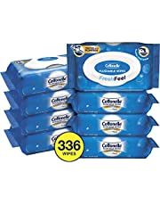Cottonelle FreshFeel Flushable Wet Wipes for Adults, Alcohol Free, 336 Wipes per Pack (Eight 42-Count Flip-Top Packs)