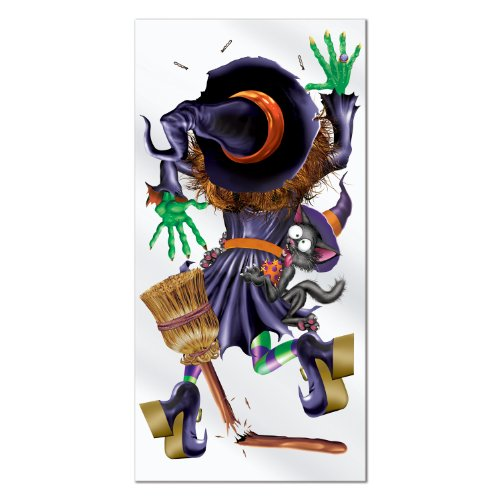 Beistle Crashing Witch Door Cover, 30-Inch by 5-Feet]()