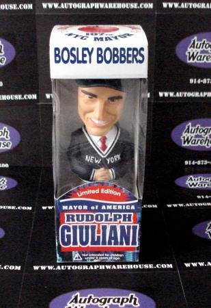 Rudy Giuliani Bobble Head Bosley Bobber - box in poor condition - figure is fine