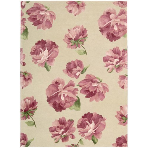 Modern Elegance Rose Rug (Nourison Modern Elegance (Lh09) Rose Rectangle Area Rug, 5'6