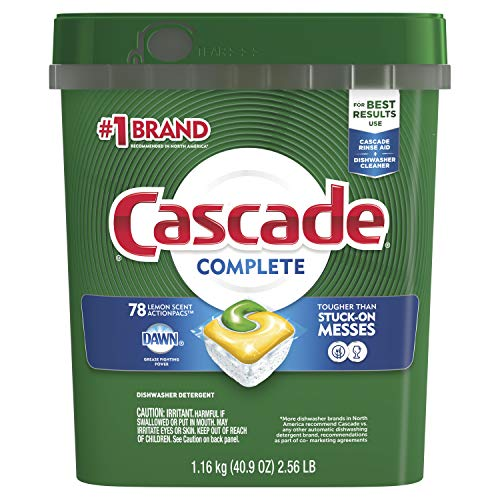 Cascade Actionpacs Dishwasher Detergent, Lemon, 78 Count (Health And Household)