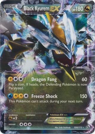 amazon com pokemon black kyurem ex 100 113 legendary