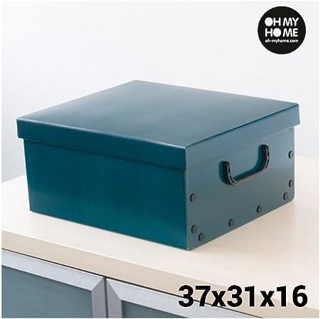 Caja de Cartón para Almacenaje con Tapa y Asas Classic Oh My Home: Amazon.es: Hogar