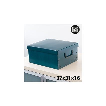 Caja de Cartón para Almacenaje con Tapa y Asas Classic Oh My Home